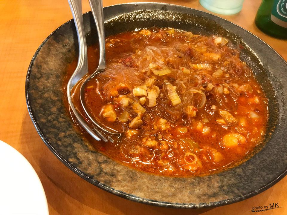 「台湾家庭料理 口福館」の麻婆春雨