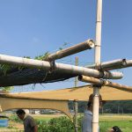 縄で竹を組む!EdiblePark茅ヶ崎のパーゴラ拡張大作戦その2