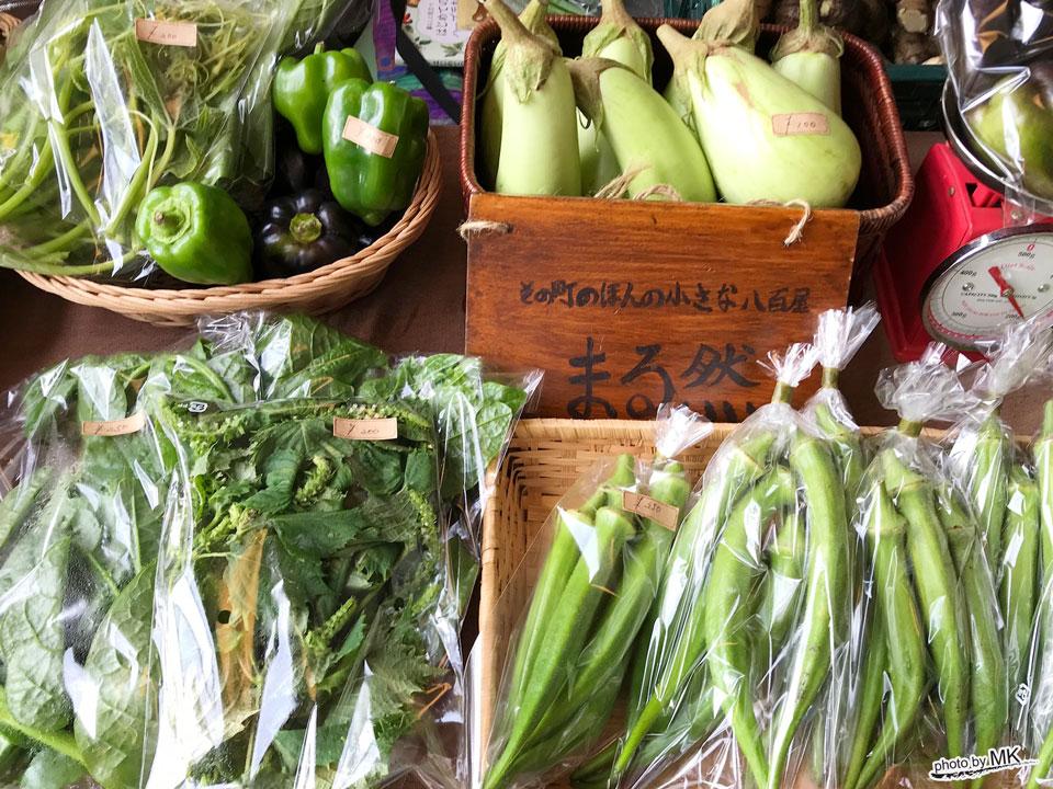 まる然さんが扱う自然農法の野菜